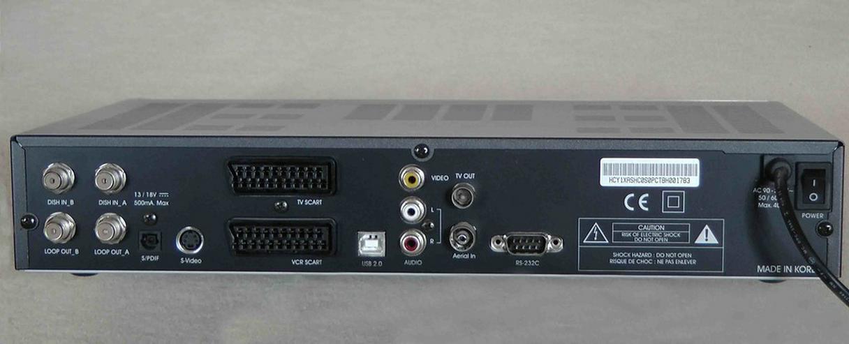 Bild 2: HOMECAST Sat Receiver, Twin Tuner, 250GB FP, 2 Slots