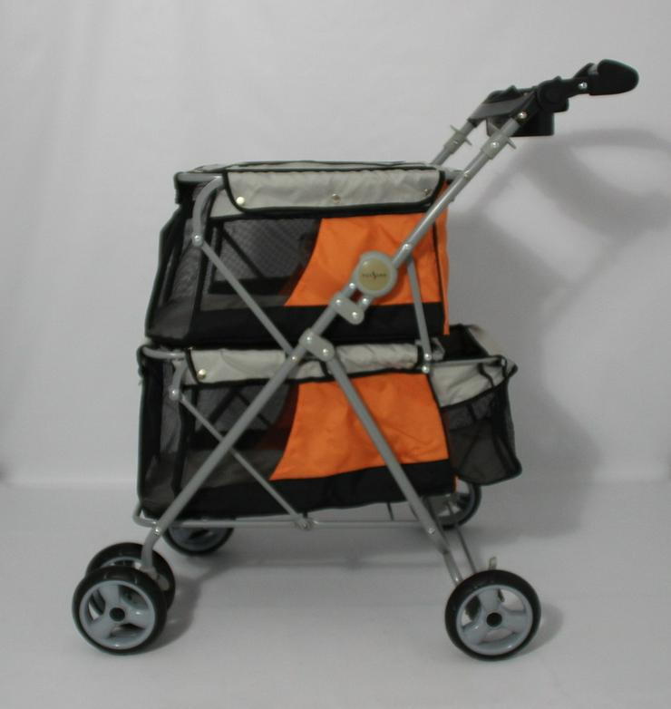 Hundebuggy Double orange 62 x 60 x 104 cm