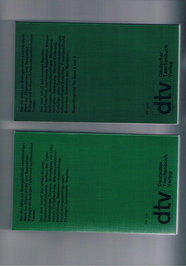 Bild 2: DTV-Atlas zur Biologie (Band 1+2)