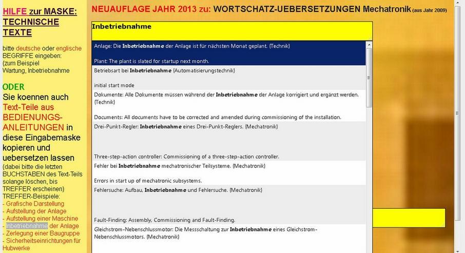 Bild 6: Translation of Technical Texts: german-english