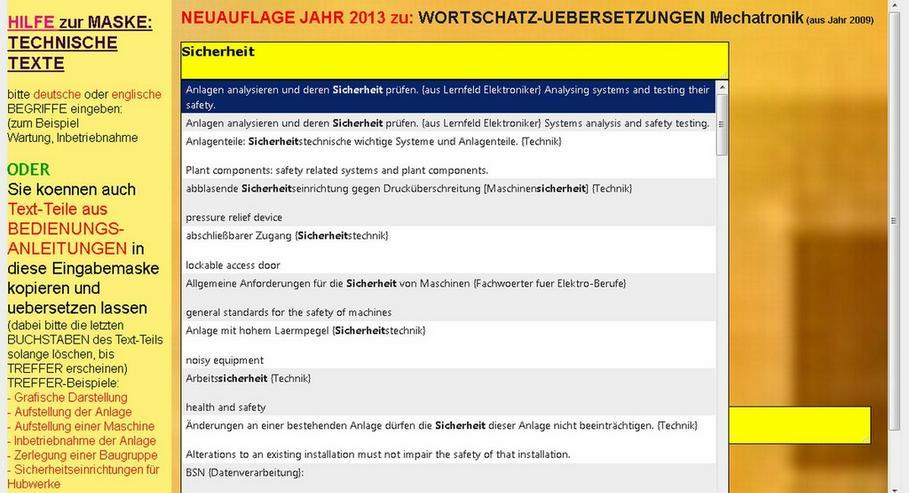 Bild 2: Translation of Technical Texts: german-english