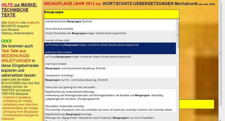 Bild 3: Translation of Technical Texts: german-english