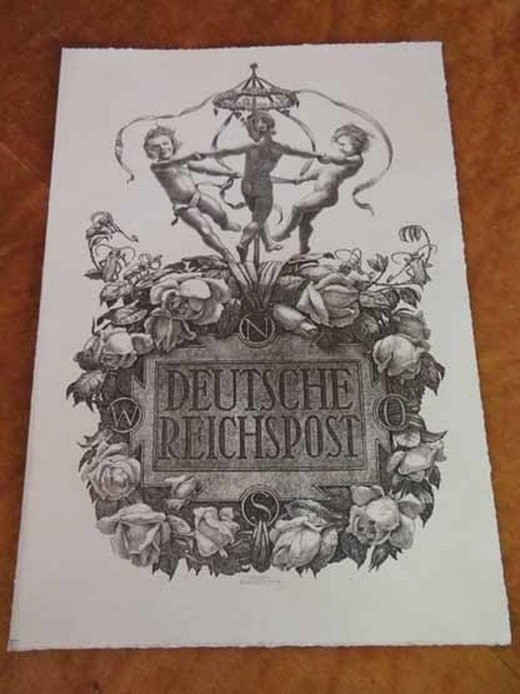 Schmuckblatt Telegramm Deutsche Reichspost Lx6