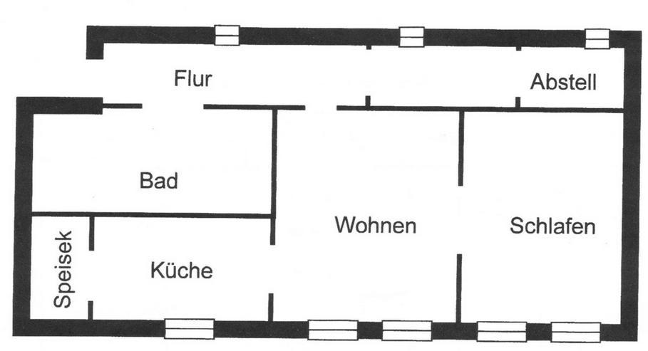 Bild 6: Frohburg in der Nähe des Stadtbades in ruhiger Lage kann ich Ihnen eine 2 Zimmerwohnung a...