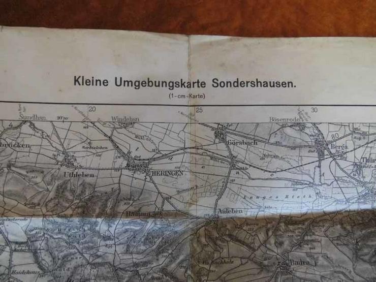 Kleine Umgebungskarte Sondershausen 1940 / Deu