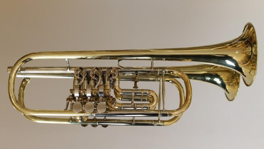 Deutsche Drehventil Konzert - Trompete in B - Blasinstrumente - Bild 1