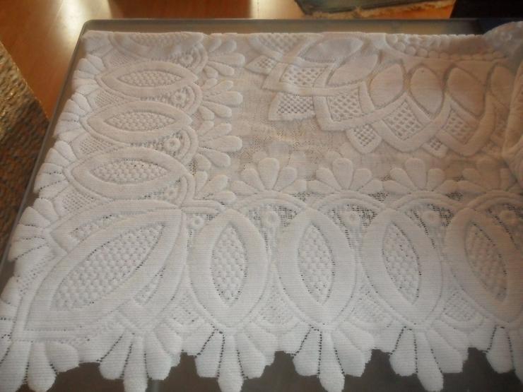 Spizentischdecke weiss  1.30 x 160 cm