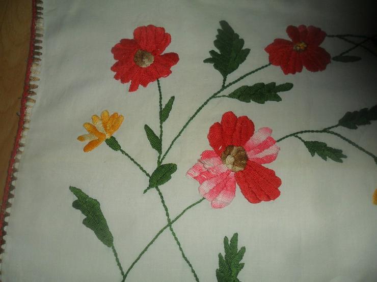 Kissen handgestickt  Blumenmotiv