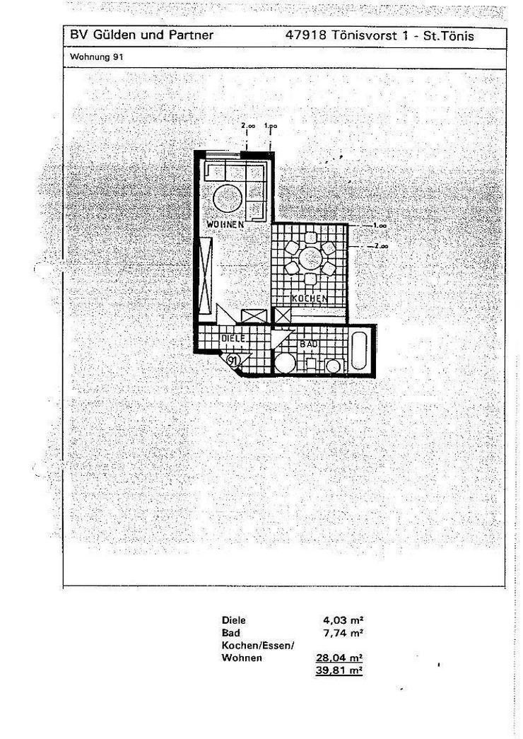 Bild 2: Kapitalanleger aufgepasst!!! 1,5-Zimmerwohnung in Tönisvorst