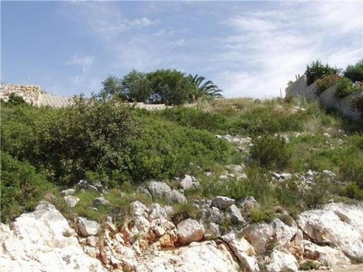 Bild 6: Baugrundstück in Südlage mit Zugang von zwei Seiten in Denia Marquesa VI