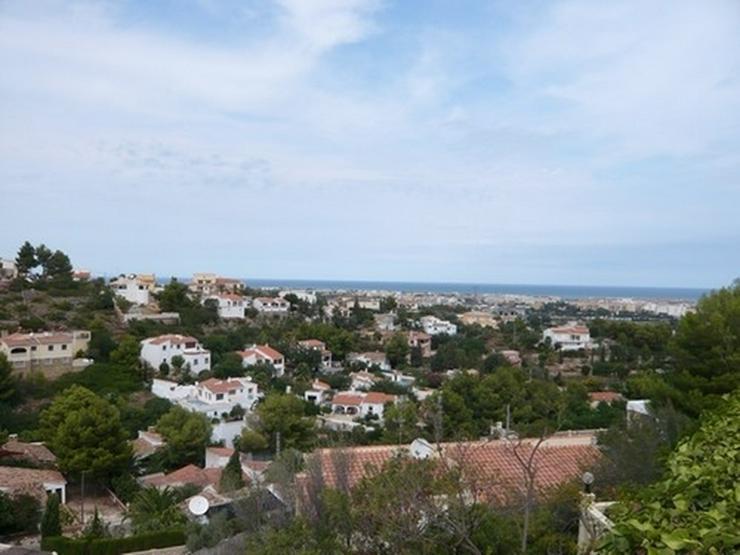Bild 2: Grundstück in Denia mit Meer- und Burgscht