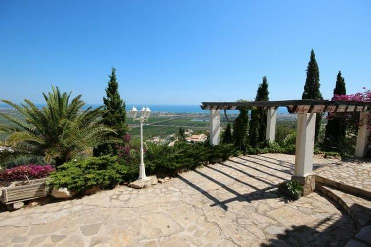 Bild 4: Großzügige Villa am Monte Pego mit Panoramablick auf Meer, Berge und die Reisfelder.
