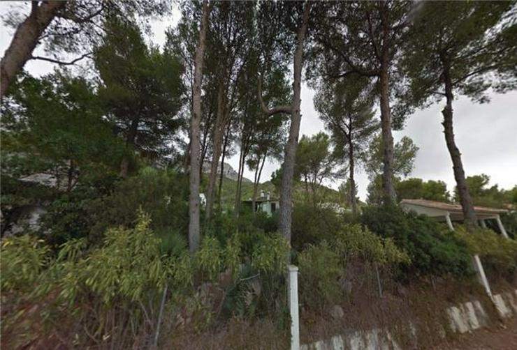 Bild 3: Grundstück mit Meer- und Bergblick , 800m2 bebaubar mit bestehendem Carport von 35m2