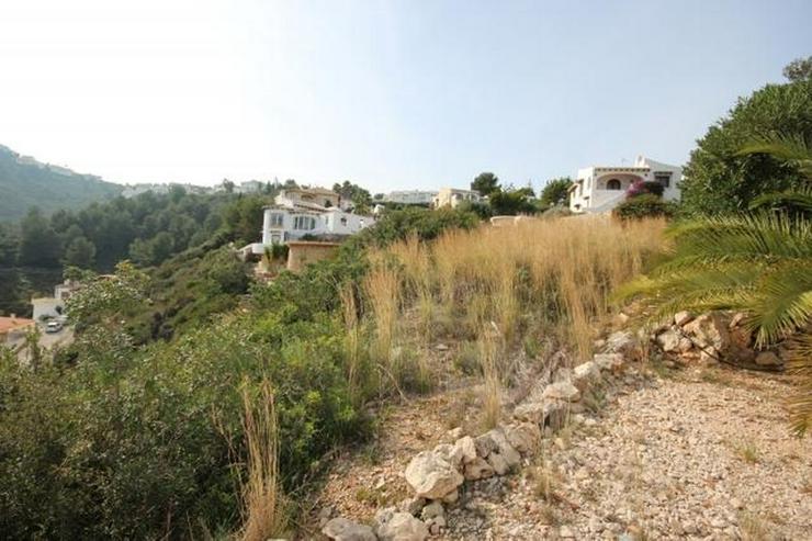 Bild 4: Bebaubares Südwest gerichtetes Grundstück in Monte Pego mit schönem Meer und Bergblick.