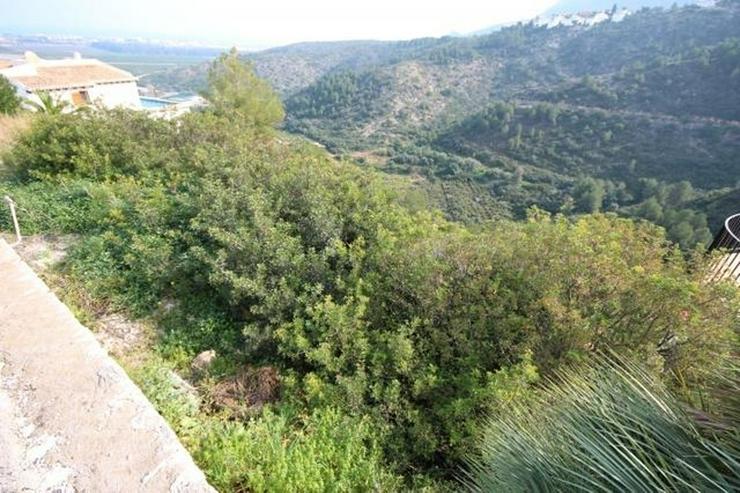 Bild 5: Bebaubares Südwest gerichtetes Grundstück in Monte Pego mit schönem Meer und Bergblick.
