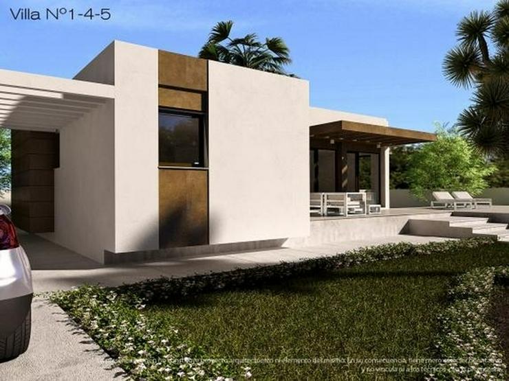 Bild 3: 4 freistehende Neubau Villen, Pool optional, 3 Schlafz.,2 Bäder, Meernahe, Bergblick