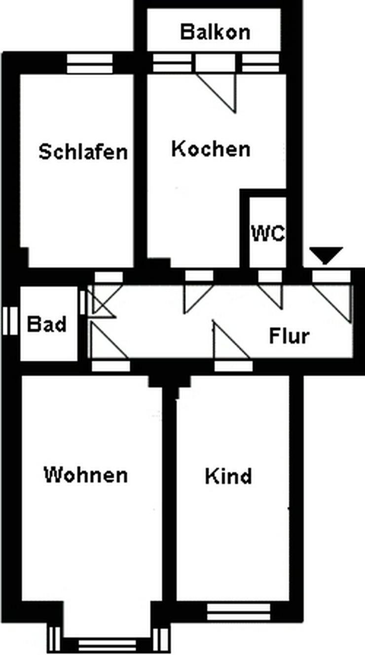 Bild 2: Zentrumsnahe 3-Raum-Wohnung!