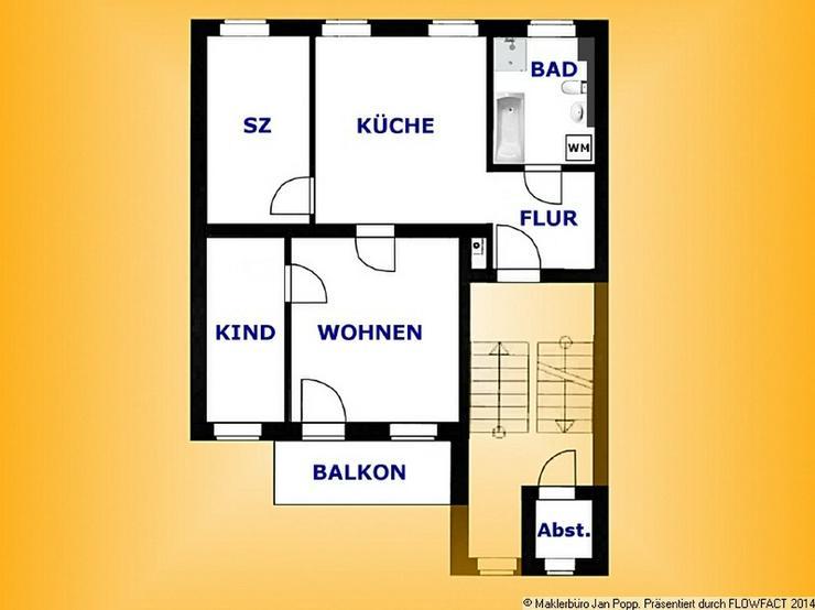 Etagenwohnung mit Südbalkon - Wohnung mieten - Bild 1