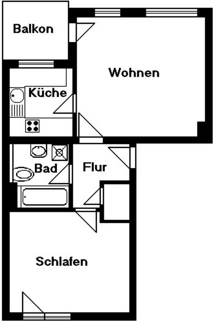 Bild 3: 2-Raum-Wohnung mit Balkon und Stellplatz zu verkaufen!