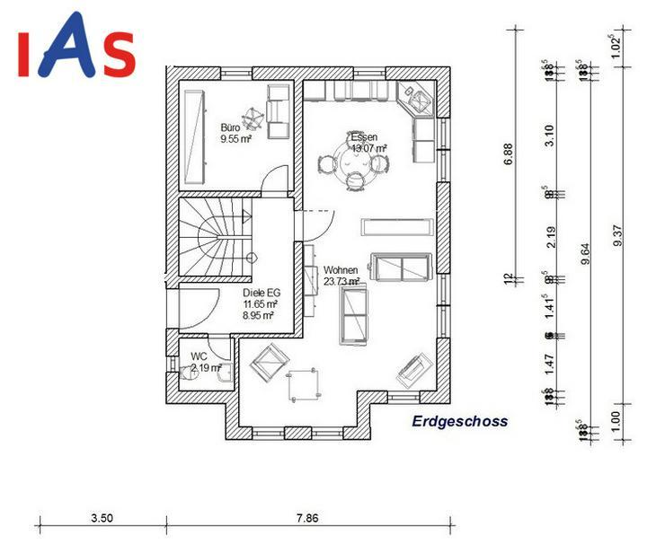 Bild 2: Doppelhaus-Neubau: Ruhig gelegen - unweit von Pressath und Grafenwöhr zu verkaufen!