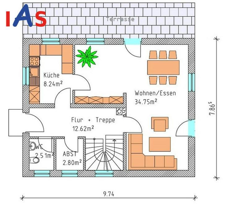 Bild 2: Neubau: Familienhaus in ruhiger Lage nahe Sulzbach-Rosenberg zu verkaufen!