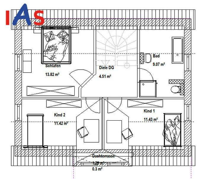 Bild 4: Neubau eines EFH mit Einliegerwohnung und Südhanglage!