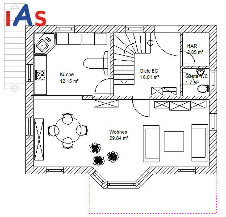 Bild 3: Neubau eines EFH mit Einliegerwohnung und Südhanglage!