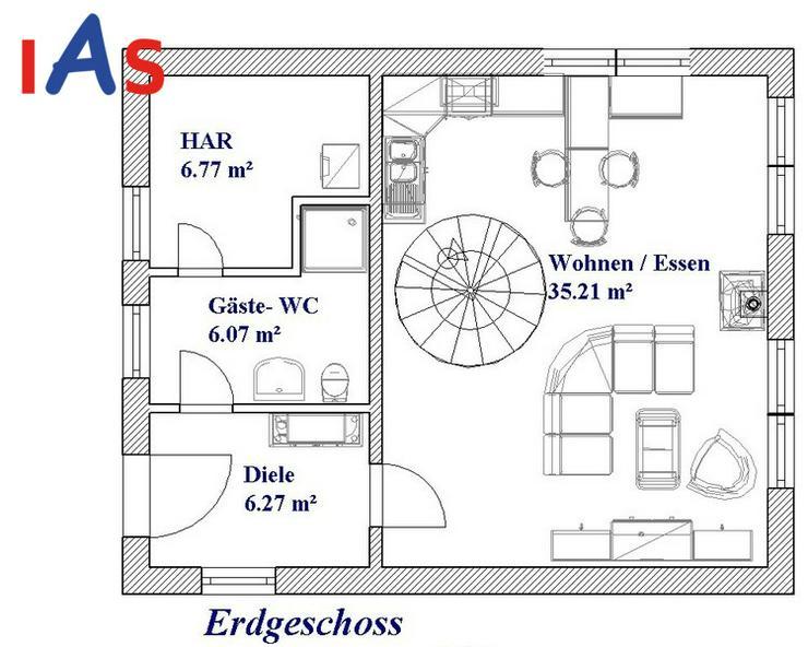 Bild 3: Neubau: sonniges Grundstück & sonniges Haus in Südhanglage in Stammbach zu verkaufen!