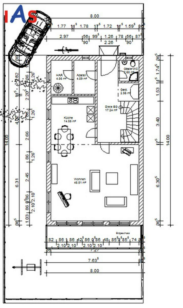 Exklusivität & Flair - Top-moderne DHH in Tegernheim! Neubau! KfW-55-Standard! - Haus kaufen - Bild 3