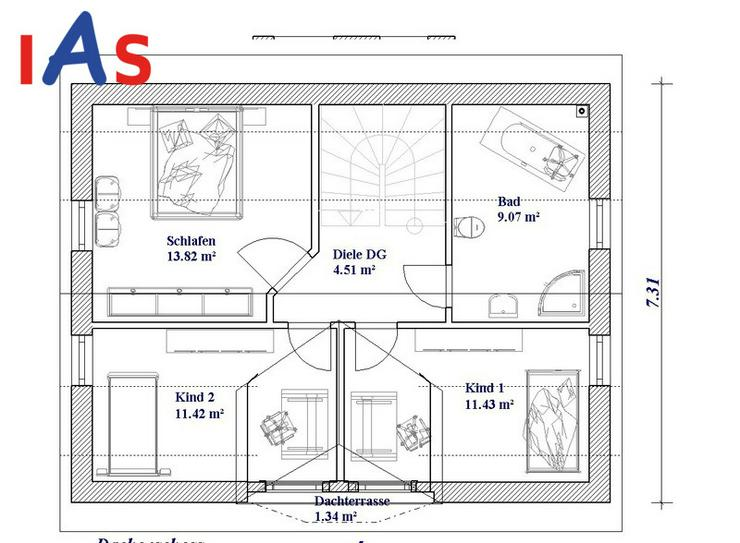 Bild 4: Neubau: Modernes Einfamilienhaus auf sonnigem Grundstück - in Ortsrandlage von Sulzbach-R...