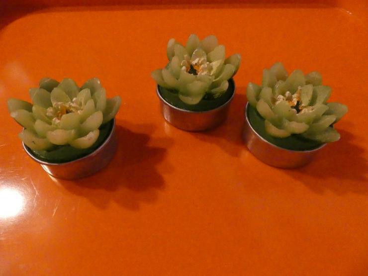 3 Blumenkerzen