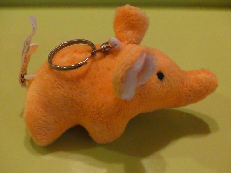 orangener Elefant - Teddybären & Kuscheltiere - Bild 1