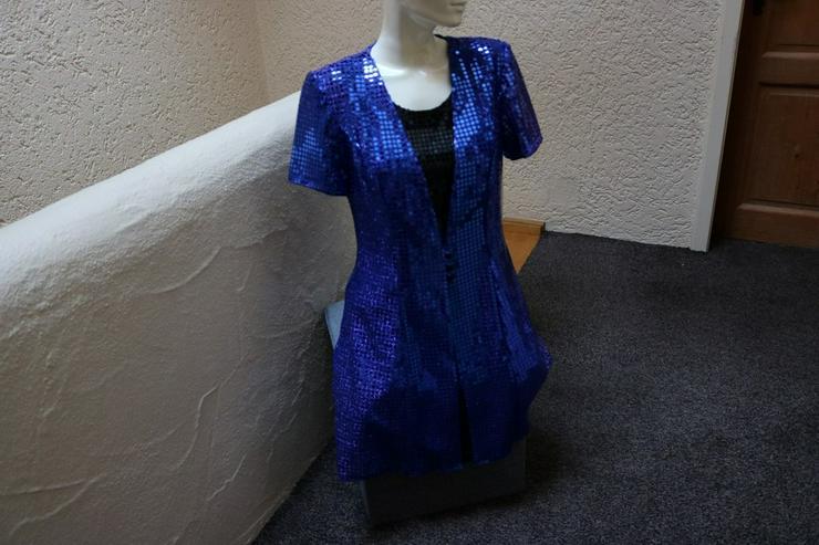 Paillettenkleid, Gr. 36, royalblau-schwarz, neu