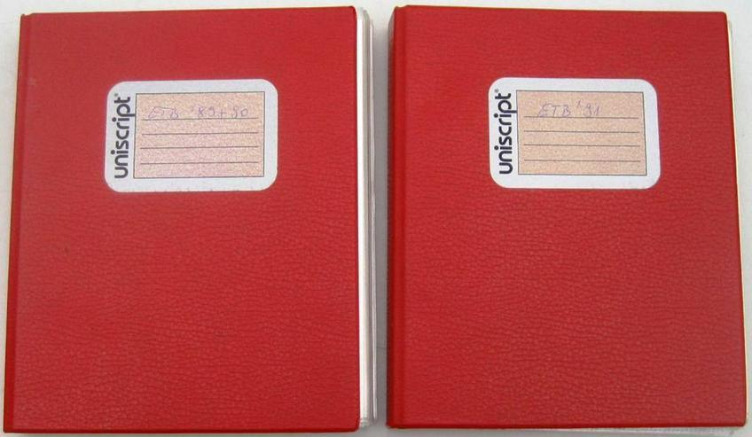 2 Uniscript ETB Alben,gebraucht, rot, mit ETB