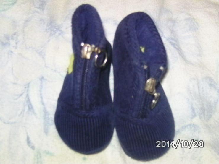 Baby pantoffel große 20 in blau wie neu foto