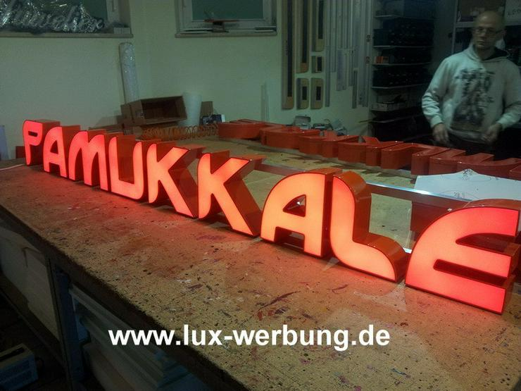 Bild 3: 3D LED Leuchtwerbung Außenwerbung Lichtreklame