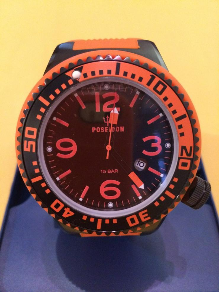 POSEIDON, Black-Pro, Silikon, Orange-schwarz - Uhren - Bild 1