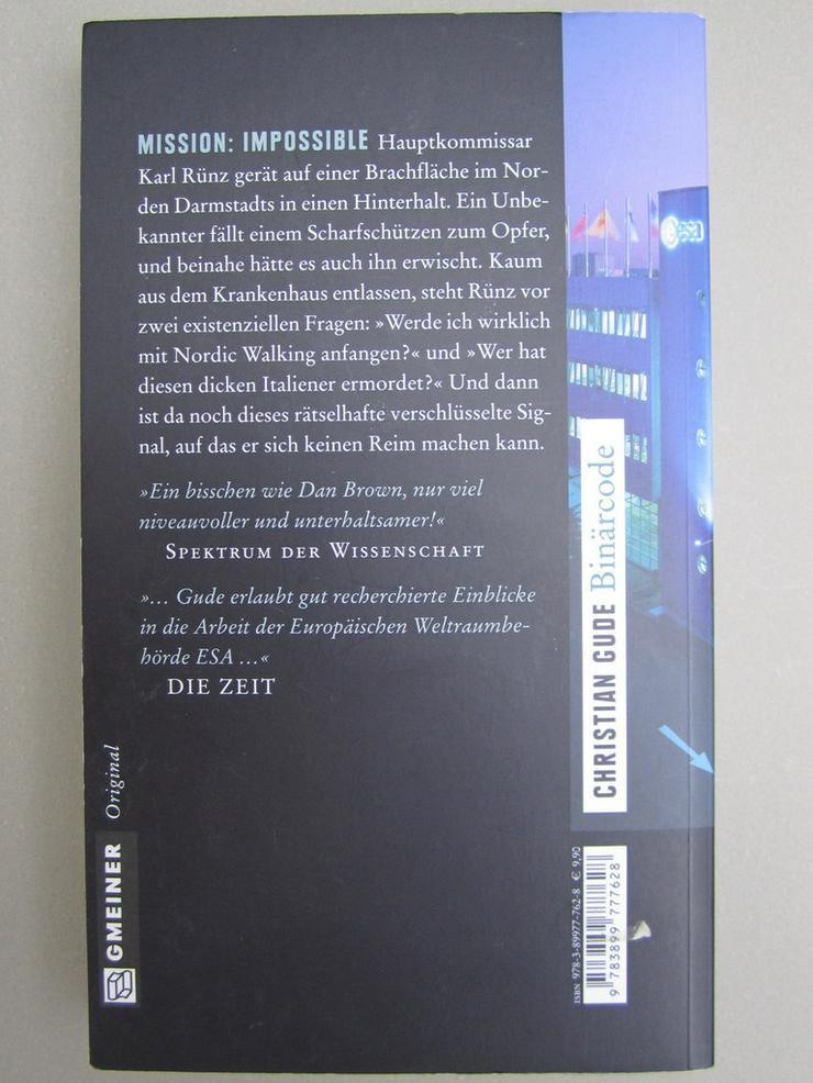 Bild 3: Darmstadt Krimi 8 Stk Kibler Gude Deppert