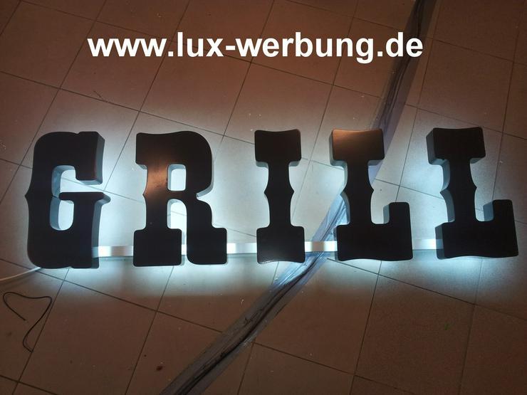Bild 5: Lichtreklame Lichtwerbung 3D LED Außenwerbung
