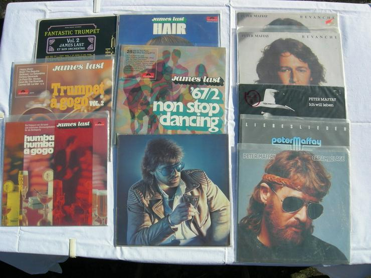 Schallplatten von Peter Maffay und James Last