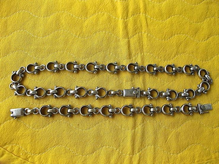 Halskette und Armband, 925 Silber massiv - Halsketten & Colliers - Bild 1