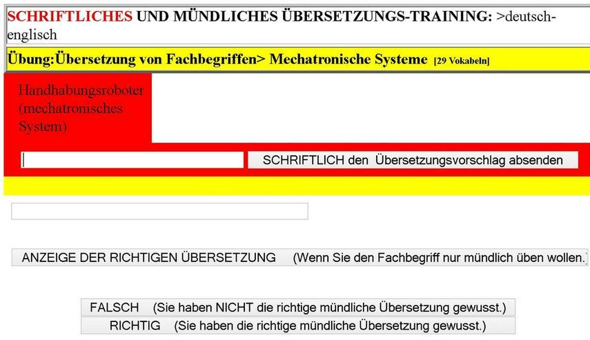 Bild 3: de-englisch Lernkarten: Uebersetzungstool
