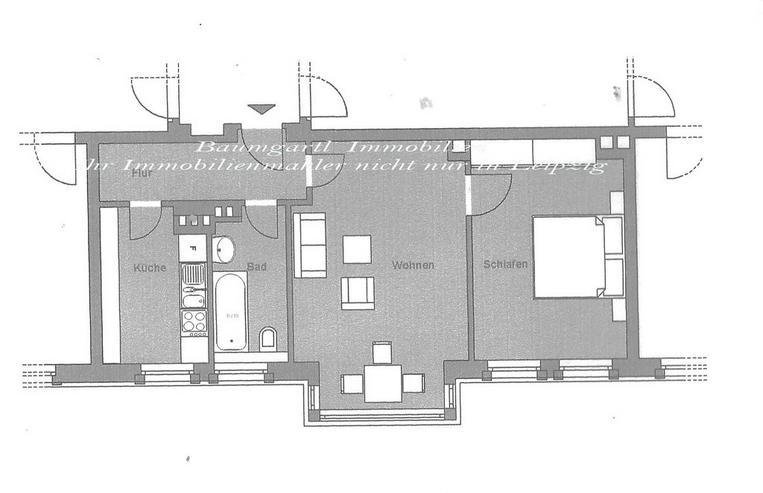 Bild 3: Chemnitz - Lutherviertel - 3 Zimmerwohnung mit Balkon und guter Raumaufteilung