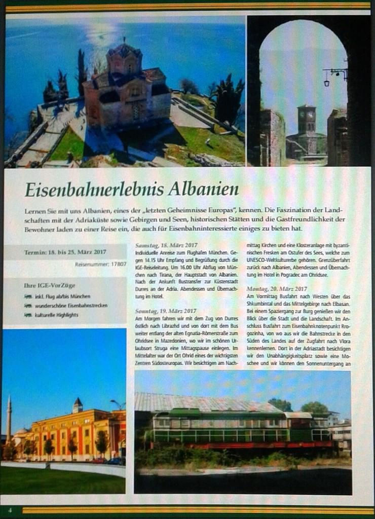 ALBANIEN mit Bahn Entdecken und Erleben.