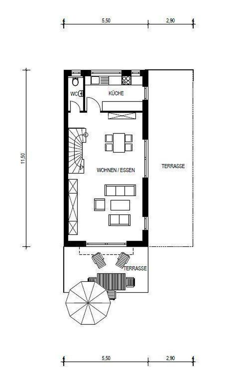 Bild 3: NEUBAU - Doppelhaushälfte UNTERKIRCHBERG