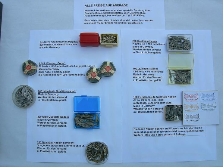 Grammophon-Nadeln und Schellackplatten abzugeben