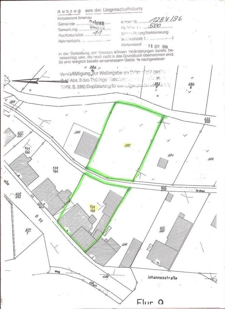 Baugrundstück in Thüringen in Gehren für Bebauung eines EFH oder ZFH.... - Grundstück kaufen - Bild 1
