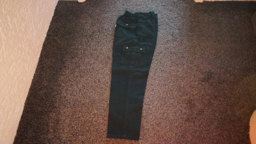 Jeans, Gr. 140, schwarz, Flag, neu