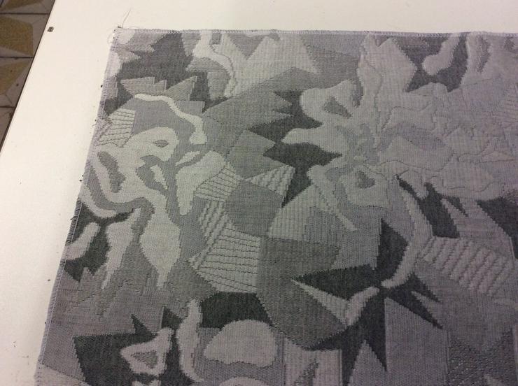 Möbelstoff silbergrau-anthrazit - Gardinen - Bild 1