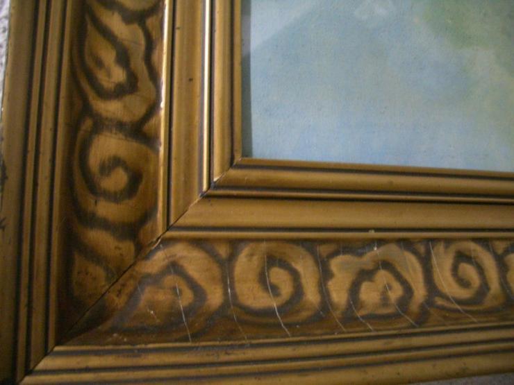 Bild 3: Antik Heiligenbild SCHUTZENGEL auf Öl mit sign.
